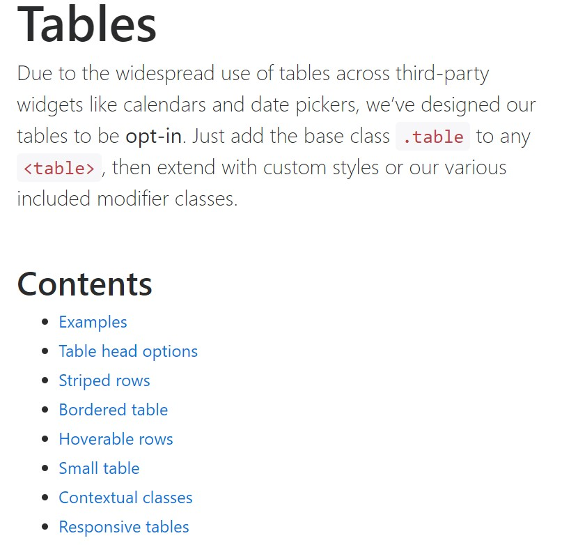 Bootstrap tables  approved  documents