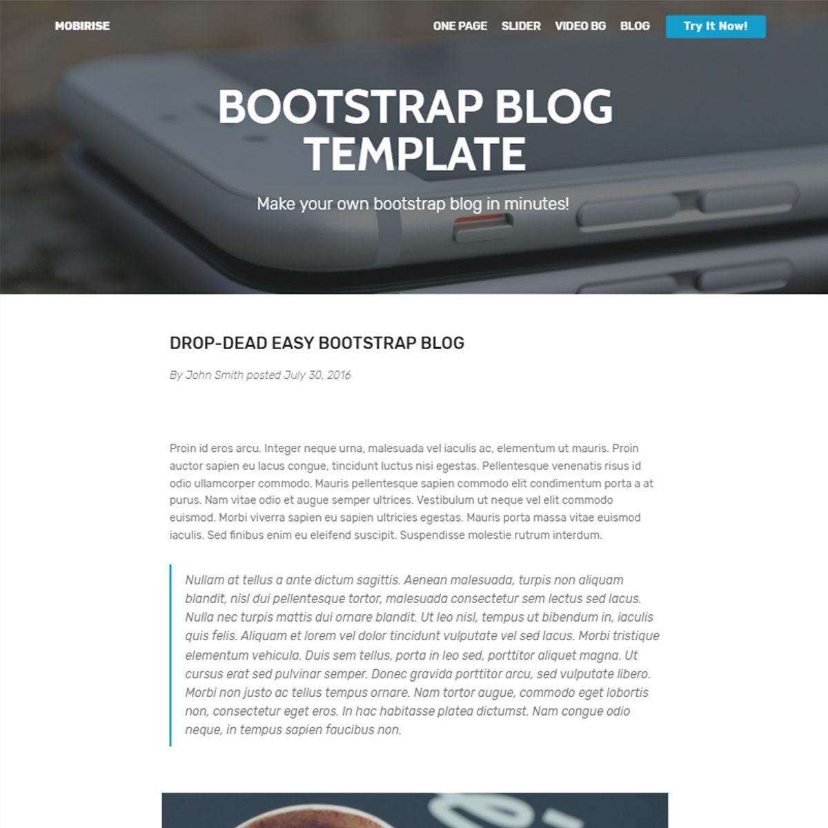 CSS3 Bootstrap Blog Templates