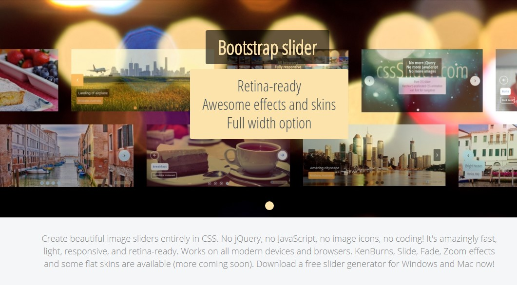 Bootstrap Slider Button