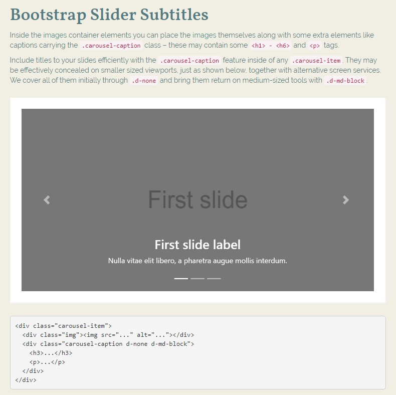 Bootstrap Image Gallery Slider