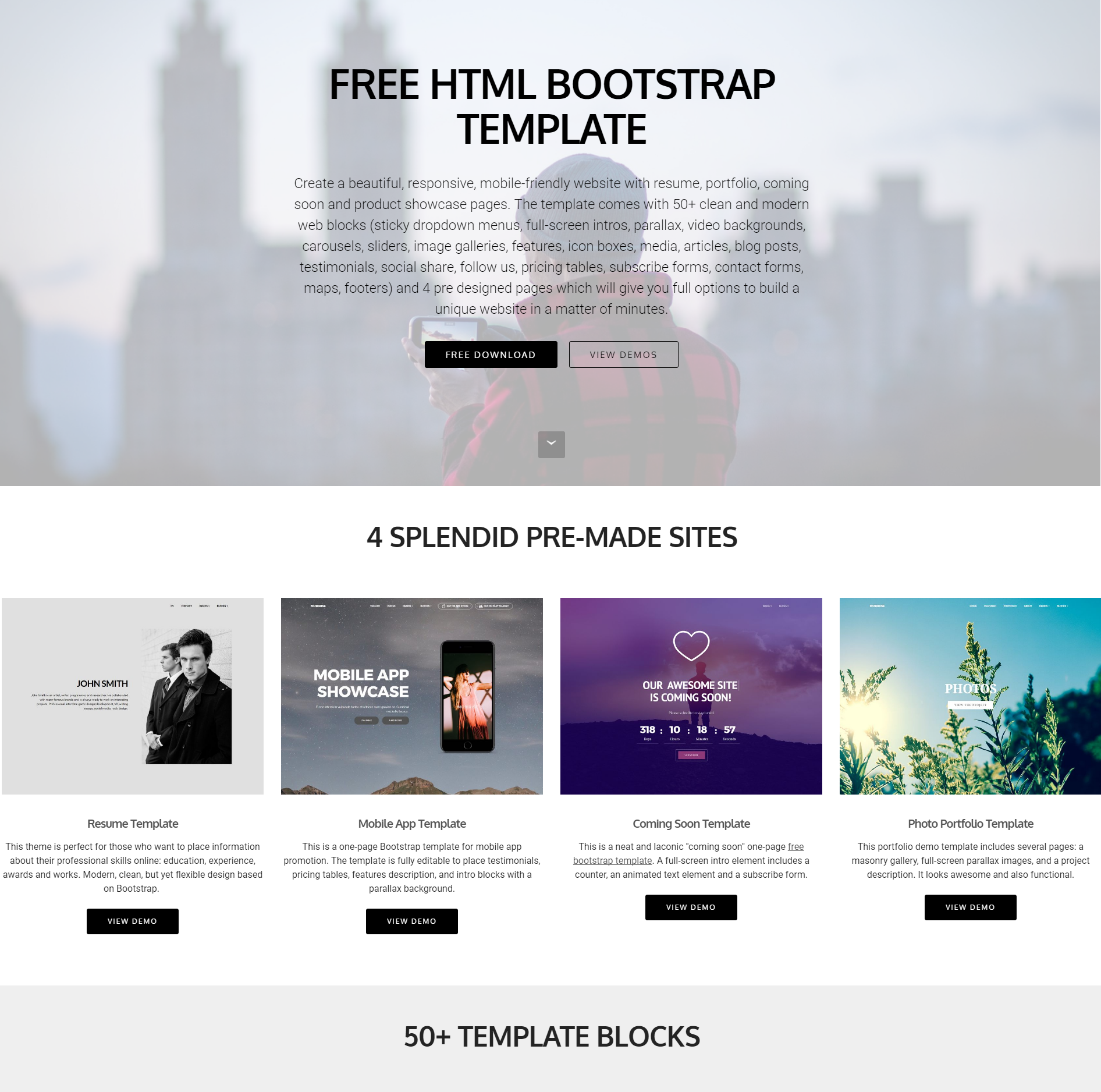 30+ Slick Free HTML Bootstrap Templates 2018