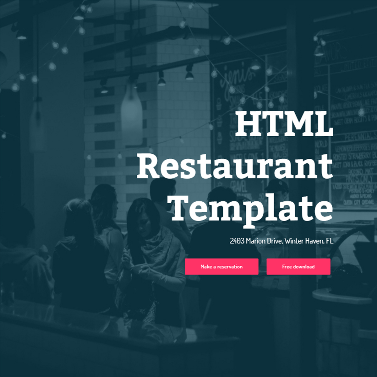 Free Bootstrap Restaurant Themes