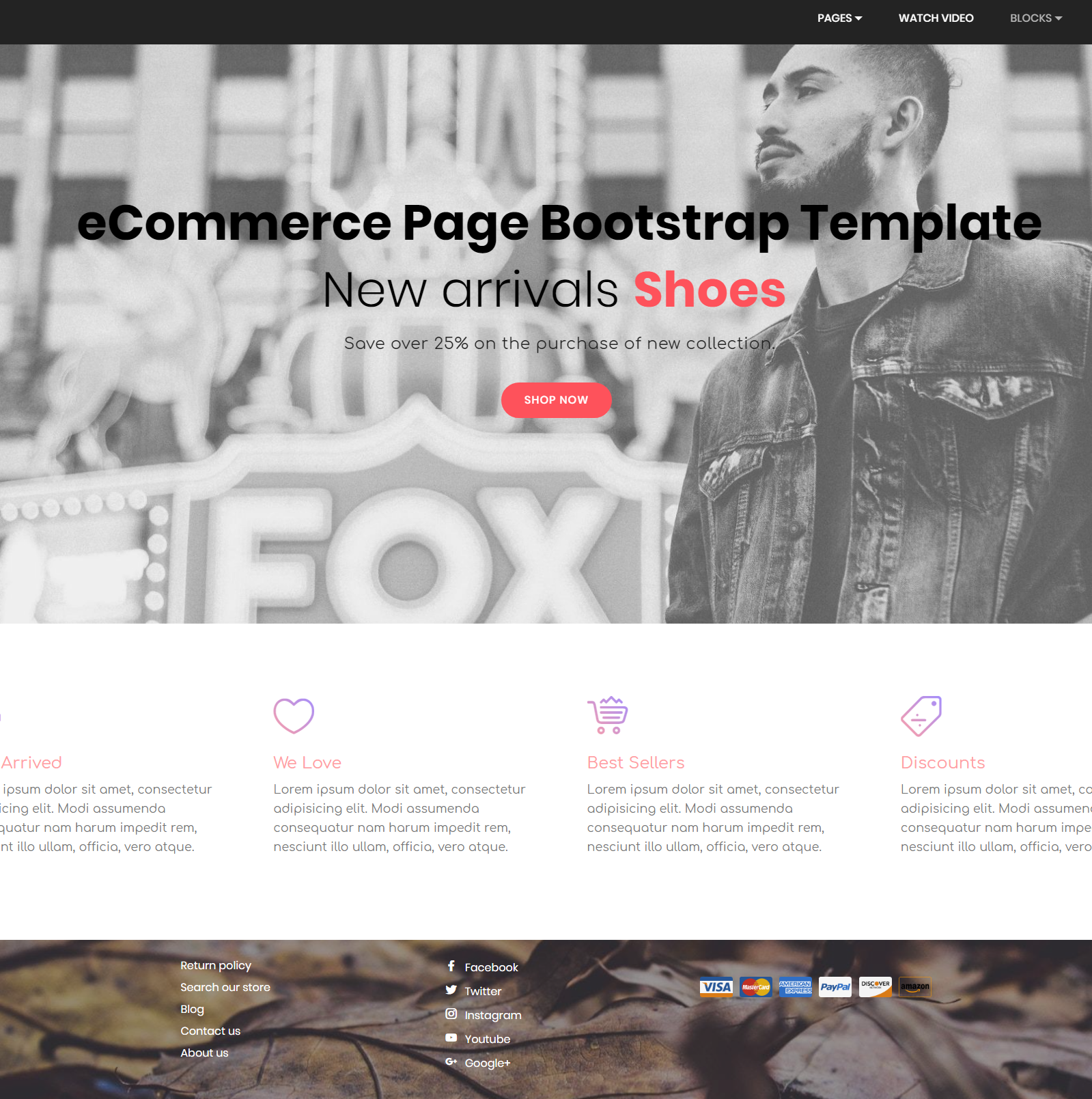 CSS3 Bootstrap eCommerce Templates