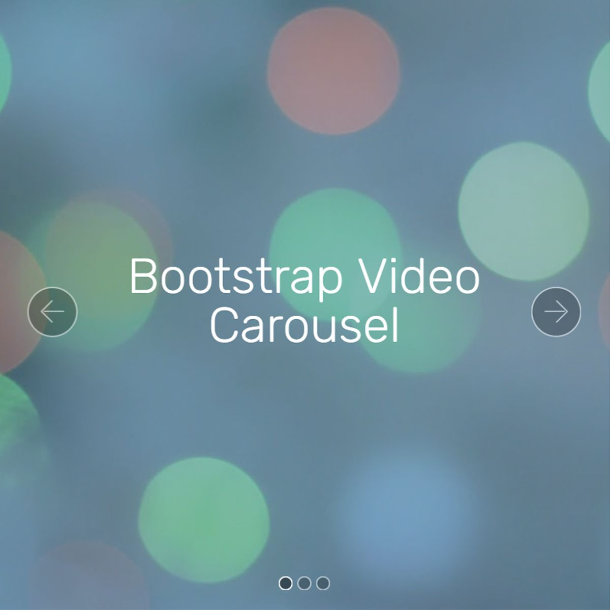 JavaScript Bootstrap Picture Slideshow