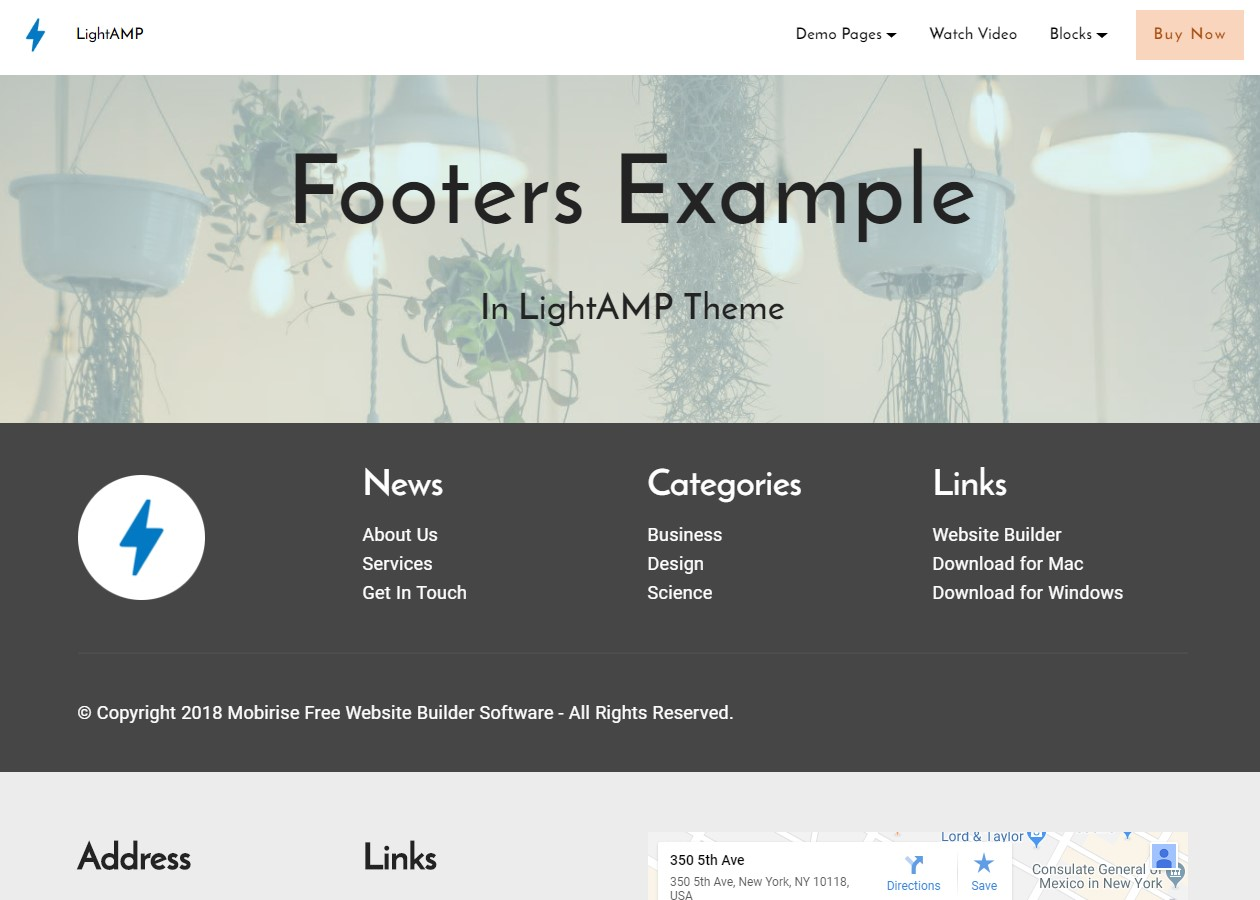 Best 50 innovative and creative html5 themes examples lightamp html footer template design template maxwellsz
